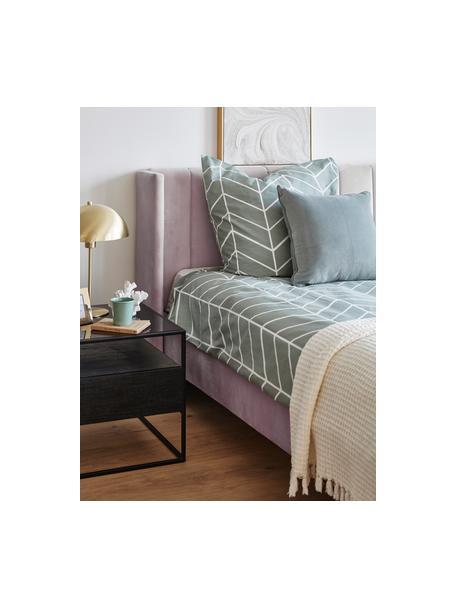 Gestoffeerd fluwelen bed Dusk in mauve, Frame: massief grenenhout en pla, Bekleding: polyester fluweel, Poten: gepoedercoat metaal, Fluweel mauve, 140 x 200 cm