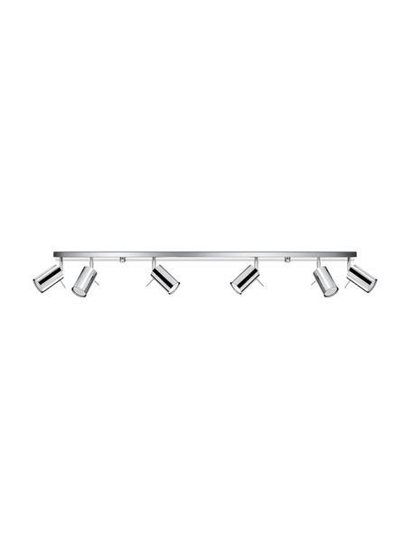 Faretti da soffitto in cromo Etna, Paralume: acciaio cromato, Baldacchino: acciaio cromato, Cromo, Larg. 120 x Alt. 15 cm