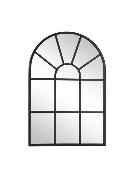 Lustro ścienne z metalową ramą Reflix, Czarny, S 58 x W 87 cm