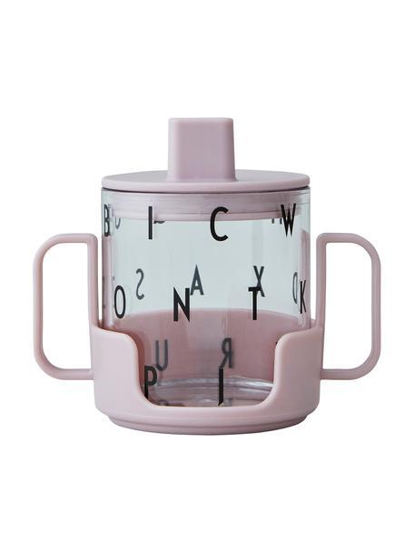 Kinderbecher Grow With Your Cup mit Halterung, Tritan, BPA-frei, Rosa, Ø 7 x H 8 cm