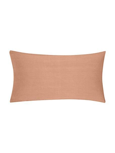 Poszewka na poduszkę z bawełny z efektem sprania Arlene, 2 szt., Morelowy, S 40 x D 80 cm