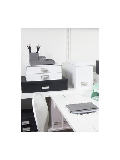 Organizer biurowy Birger, Organizer na zewnątrz: biały Organizer wewnątrz: biały, S 33 x W 15 cm