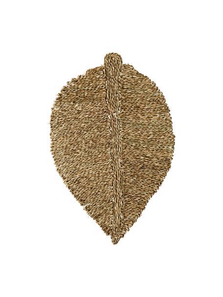 Seegras-Fussmatte Leaflet in Blattform, Seegras, Beige, 52 x 80 cm