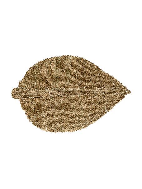 Seegras-Fußmatte Leaflet in Blattform, Seegras, Beige, 52 x 80 cm
