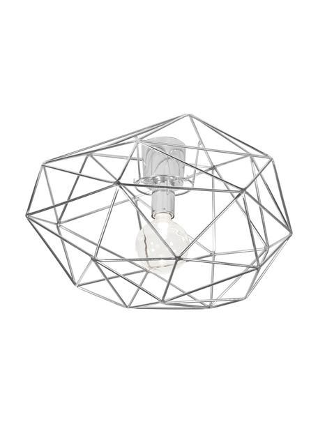 Plafondlamp Diamond, Verchroomd messing, Chroomkleurig, Ø 50 x H 32 cm
