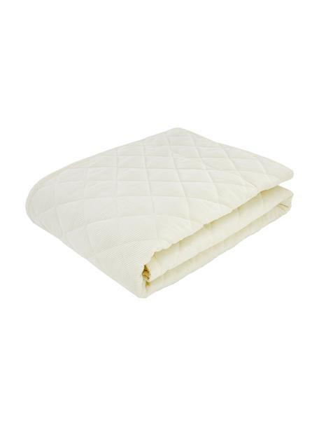 Zachte corduroy bedsprei Billie in crèmewit, Weeftechniek: koord, Crèmewit, B 270 x L 265 cm (voor bedden van 160 x 200)