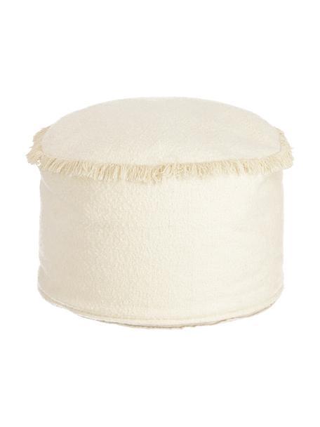 Pouf per bambini in cotone Verenice, 100% cotone, Beige, Ø 40 x Alt. 27 cm