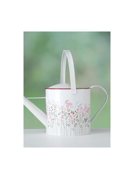 Gießkanne Rosalie, Metall, beschichtet, Weiß, Mehrfarbig, 39 x 17 cm