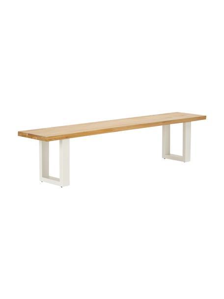 Sitzbank Oliver aus Eichenholz, Sitzfläche: Wildeichenlamellen, massi, Beine: Metall, pulverbeschichtet, Wildeiche, 200 x 45 cm