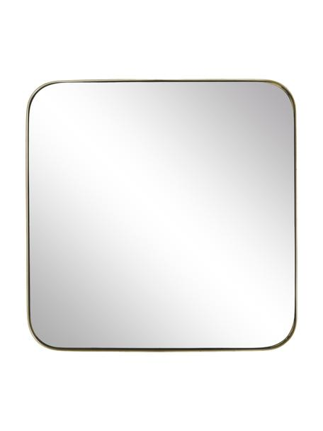 Eckiger Wandspiegel Ivy mit goldenem Metallrahmen, Rahmen: Metall, pulverbeschichtet, Rückseite: Mitteldichte Holzfaserpla, Spiegelfläche: Spiegelglas, Goldfarben, 55 x 55 cm
