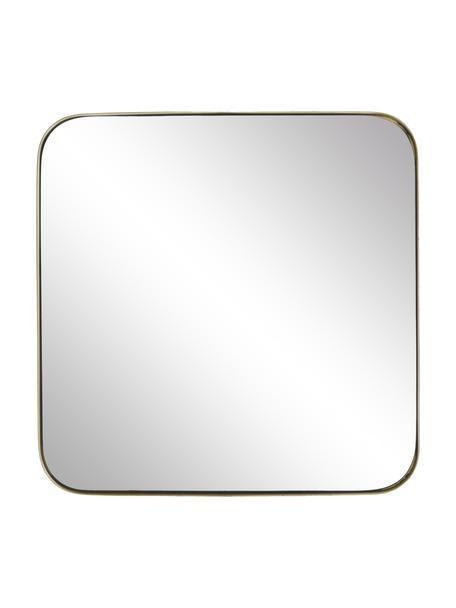 Specchio da parete con cornice dorata Ivy, Cornice: metallo verniciato a polv, Retro: pannelli di fibra a media, Superficie dello specchio: lastra di vetro, Dorato, Larg. 55 x Alt. 55 cm