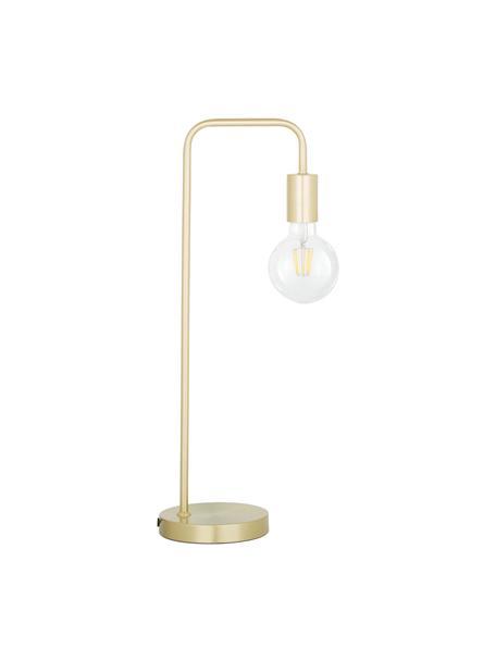 Duża lampa biurkowa z metalu Flow, Mosiądz, szczotkowany, S 22 x W 56 cm