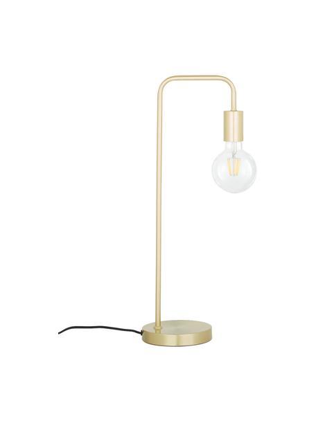 Lámpara de escritorio grande de metal Flow, Cable: cubierto en tela, Latón, cepillado, An 22 x Al 56 cm