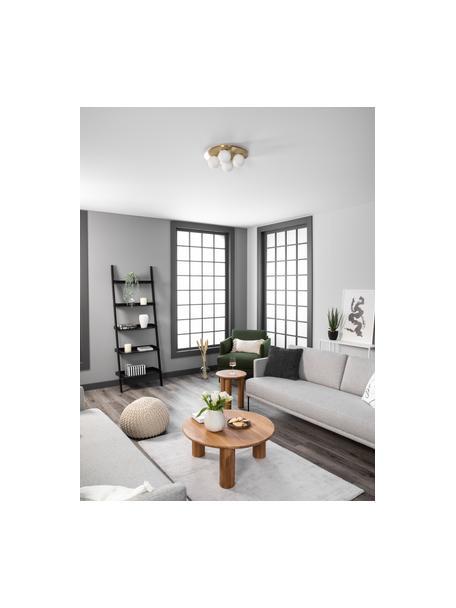 Aplique / Plafón de vidrio opalino Hitch, Anclaje y zócalo: latón, mate Pantallas: blanco, Ø 36 x Al 12 cm