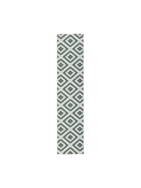 Dwustronny chodnik wewnętrzny/zewnętrzny Malta, Zielony, odcienie kremowego, S 80 x D 350 cm