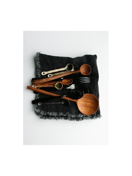 Teelöffel Yunomi im japanischen Style, 4 Stück, Steingut, Mehrfarbig, L 12 cm