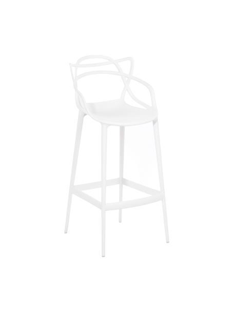 Sedia da bar di design Masters, Polipropilene, Bianco, Larg. 49 x Alt. 109 cm