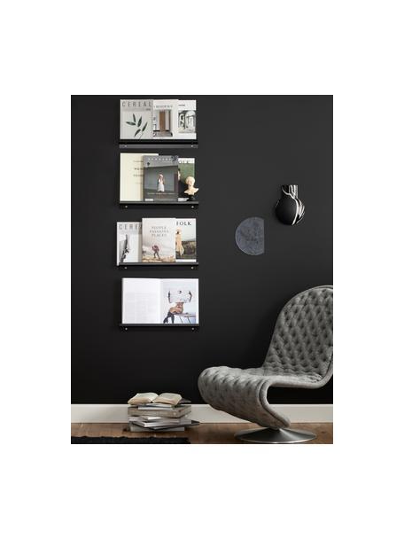Estante estrecho para cuadros Shelfini, Estante: metal pintado, Negro, latón, An 50 x Al 6 cm