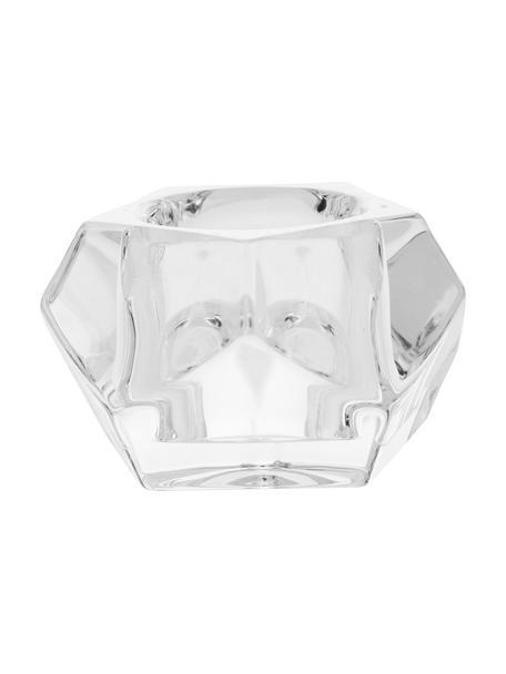 Portavelas Obesse, Vidrio, Transparente, Ø 9 x Al 6 cm