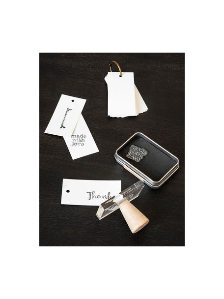 Set de estampillas para sellos Letters & Numbers, Silicona, Negro, transparente, An 14 x Al 21 cm