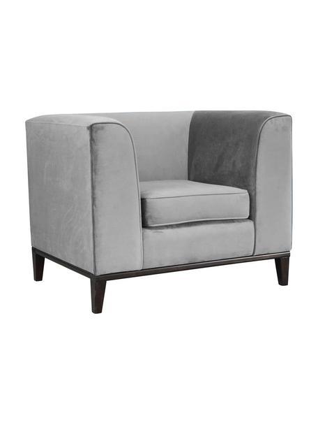 Fotel koktajlowy z aksamitu Margo, Tapicerka: aksamit (100% poliester), Aksamitny szary, S 88 x G 85 cm