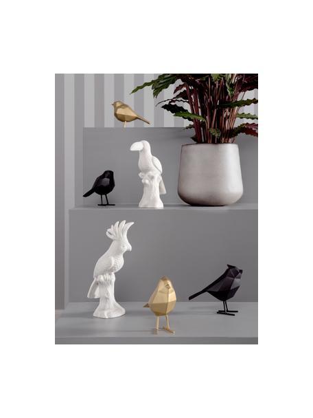 Figura decorativa Bird, Poliresina, Dorado, An 17 x Al 14 cm