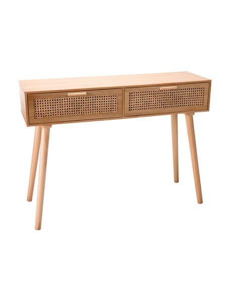 Consola de madera Romeo, Estructura: tablero de fibras de dens, Beige, An 110 x Al 82 cm