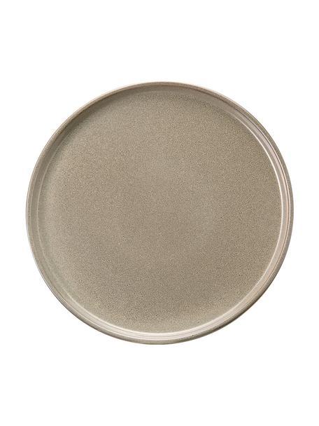 Steingut Frühstücksteller Ceylon in Grau/Grün gesprenkelt, 2 Stück, Steinzeug, Bräunlich, Grüntöne, Ø 21 cm