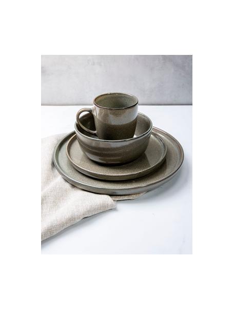 Ontbijtborden Ceylon, 2 stuks, Keramiek, Bruin, groentinten, Ø 21 cm