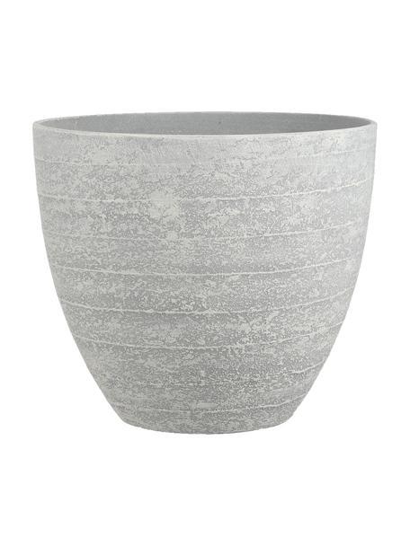 Macetero grande Bravo, Plástico, Gris, Ø 37 x Al 33 cm