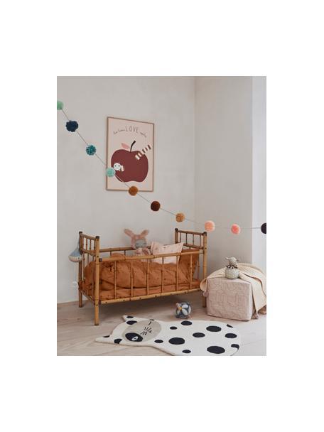Ghirlanda fatta a mano Pom Pom, 27- cm, Cotone, Multicolore, Ø 8 x Lung. 270 cm