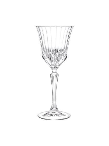 Kristallen wijnglazen Adagio met reliëf, 6 stuks, Kristalglas, Transparant, Ø 9 x H 21 cm