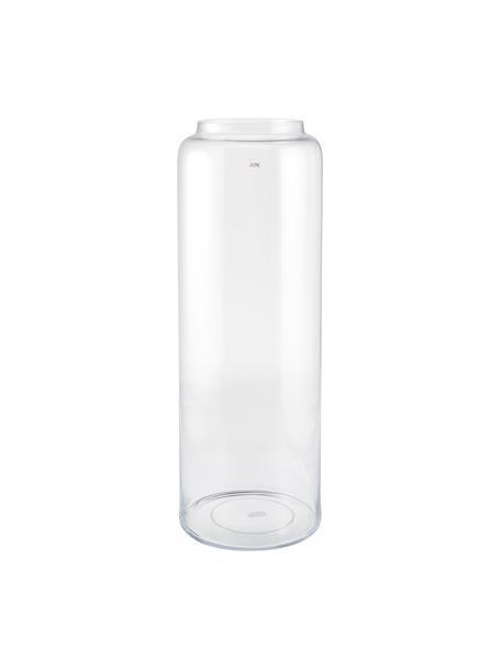 Vloervaas Right van glas, Glas, Transparant, Ø 25 x H 70 cm