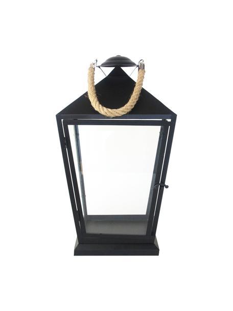 Lantaarn Tala, Frame: gecoat ijzer, Zwart, 25 x 46 cm