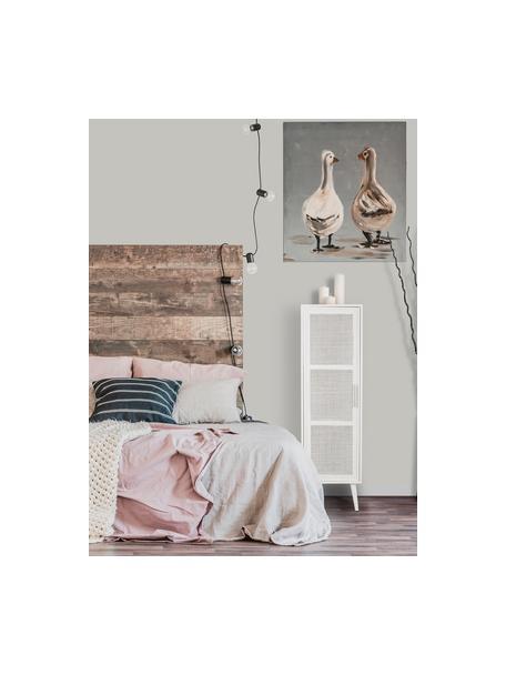 Chiffonnier de madera Cayetana, Estructura: tablero de fibras de dens, Patas: madera de bambú pintada, Blanco, An 37 x Al 140 cm