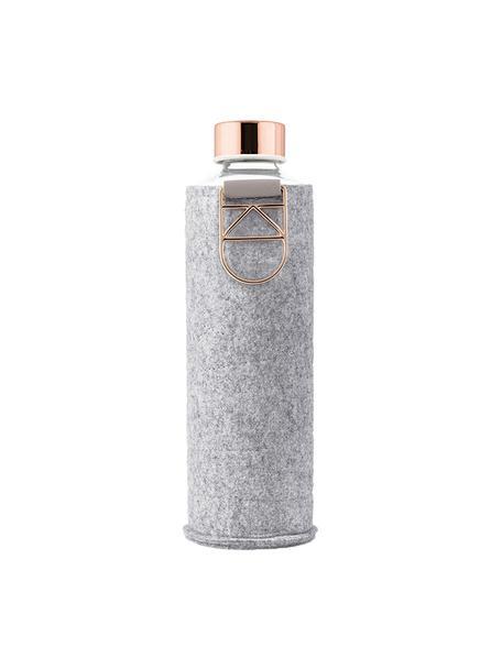 Bidon Mismatch, Tapicerka: filc poliestrowy, Szary, transparentny, odcienie miedzi, Ø 8 x W 26 cm