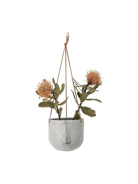 Hangende plantenpot Sama van keramiek, Grijs, Ø 17 x H 16 cm