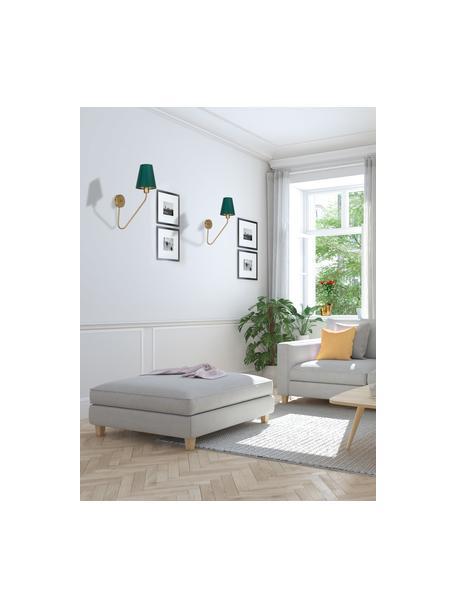 Aplique de diseño Victoria, Pantalla: mezcla de algodón, Verde, dorado, An 15 x Al 50 cm