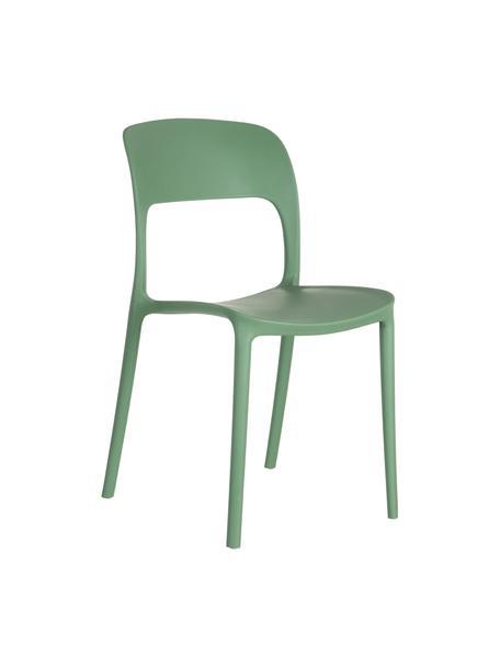 Sedia impilabile in plastica Valeria, Materiale sintetico (PP), Verde menta, Larg. 43 x Prof. 43 cm