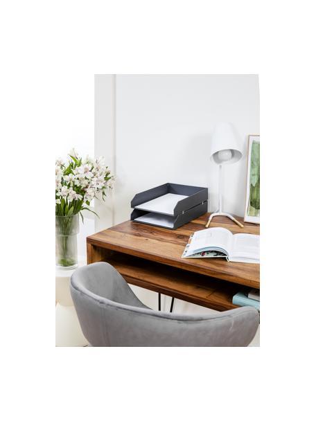 Lámpara de escritorio Noble, Pantalla: metal recubierto, Cable: plástico, Blanco, dorado, An 25 x Al 46 cm