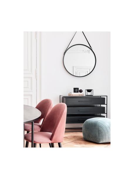 Cassettiera con piano in vetro Lyle, Mensola: vetro, Nero, Larg. 100 x Alt. 82 cm