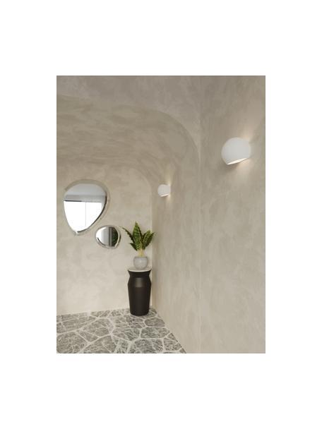 Keramische wandlamp Mercury, Lampenkap: keramiek, Wit, 20 x 18 cm