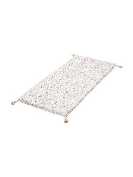 Alfombra de juegos Pressed Leaves, Exterior: 100% algodón ecológico, c, Crema, rosa, azul, gris, amarillo, An 60 x L 120 cm