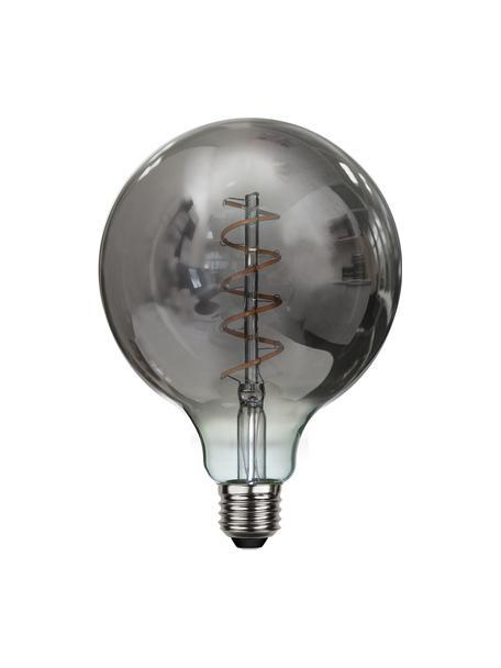 E27 Leuchtmittel, 90lm, dimmbar, warmweiß, 1 Stück, Leuchtmittelschirm: Glas, Leuchtmittelfassung: Aluminium, Grau, transparent, Ø 13 x H 18 cm