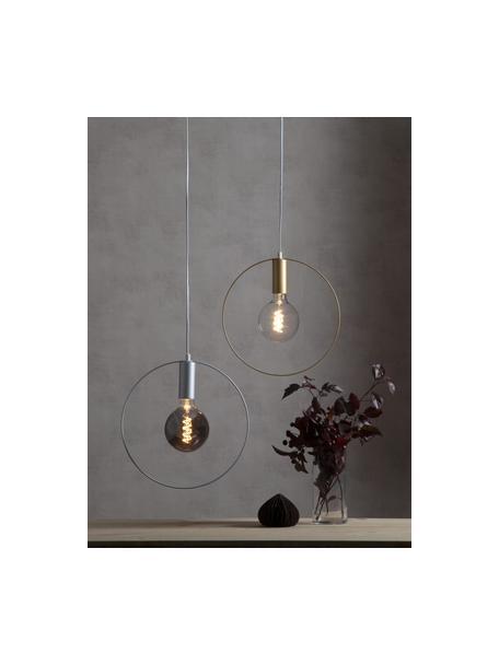 E27 Leuchtmittel, 4W, dimmbar, warmweiss, 1 Stück, Leuchtmittelschirm: Glas, Leuchtmittelfassung: Aluminium, Grau, transparent, Ø 13 x H 18 cm