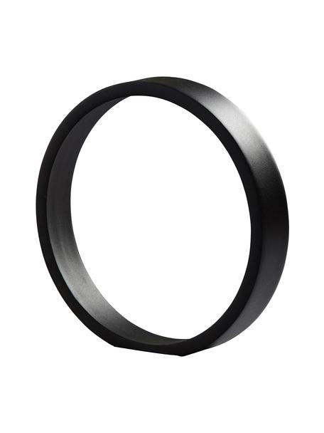 Dekoracja The Ring, Metal powlekany, Czarny, S 25 x W 25 cm