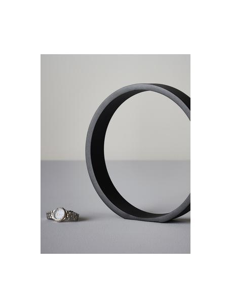Dekoracja Ring, Metal powlekany, Czarny, S 25 x W 25 cm