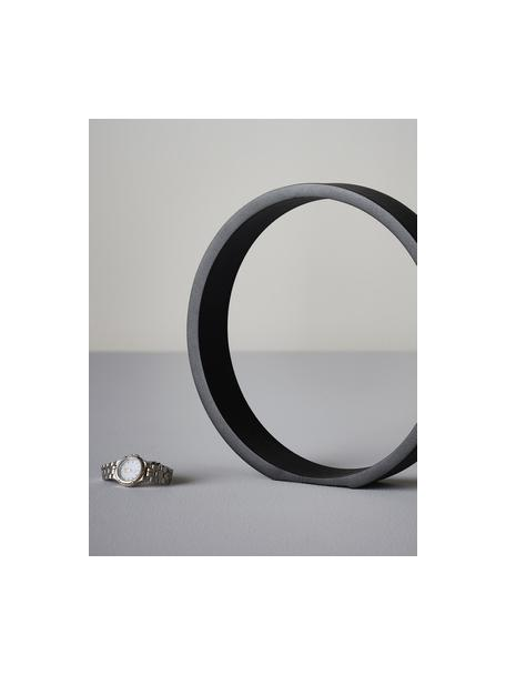 Pieza decorativa Ring, Metal, recubierto, Negro, An 25 x Al 25 cm