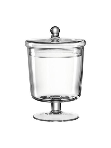 Handgefertigte Aufbewahrungsdose Poesia, Glas, Transparent, Ø 13 x H 19 cm