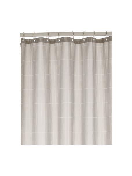 Cortina de baño Tiles, Ojales: metal, Gris claro, An 180 x L 200 cm